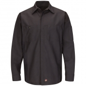 Red Kap SY10CH Solid Long Sleeve Crew Shirt - Charcoal