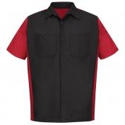 Red Kap Crew Shirt - Short Sleeve - Black/Red