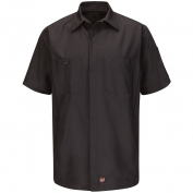 Red Kap SY20CH Short Sleeve Solid Crew Shirt - Charcoal