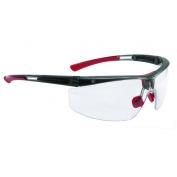 North Adaptec Adjustable Fit Safety Glasses Black Frame Clear Lens
