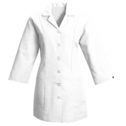 Red Kap Women\\\'s Fitted Adjustable Three Quarter Sleeve Smock - White