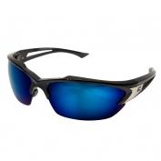 Edge TSDKAP218 Khor Safety Glasses - Black Frame - Blue Mirror Polarized Lens