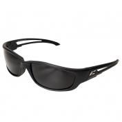 Edge TSK-XL216 Kazbek XL Safety Glasses - Black Rubberized XL Frame - Smoke Polarized Lens