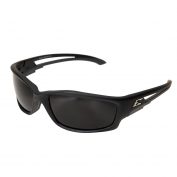 Edge TSK216 Kazbek Safety Glasses - Black Rubberized Frame - Smoke Polarized Lens