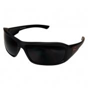 Edge TXB236 Brazeau Designer Safety Glasses - Black Rubberized Frame - Smoke Polarized Lens