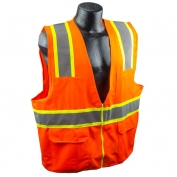 Full Source US2ON16 Class 2 Solid Surveyor Safety Vest - Orange