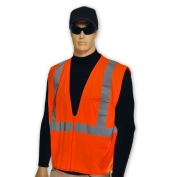 Full Source US2ON19 ANSI Class 2 Solid Safety Vest - Orange - 4X Only