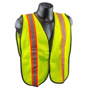 Full Source USELM2R Economy Non-ANSI Mesh Safety Vest - Yellow/Lime