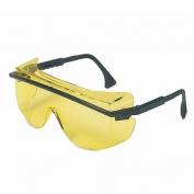 Uvex Astro OTG 3001 Safety Glasses - Black Frame - Amber Lens
