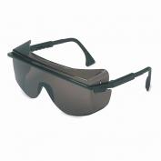 Uvex Astro OTG 3001 Safety Glasses - Black Frame - Gray Lens