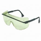 Uvex Astro OTG 3001 Safety Glasses - Black Frame - Green Shade 1.2 Lens