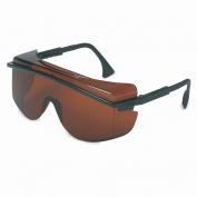 Uvex Astro OTG 3001 Safety Glasses - Black Frame - Copper Lens