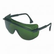 Uvex Astro OTG 3001 Safety Glasses - Black Frame - Green Shade 3.0 Lens