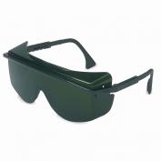 Uvex Astro OTG 3001 Safety Glasses - Black Frame - Green Shade 5.0 Lens