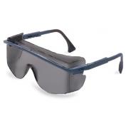 Uvex Astro OTG 3001 Safety Glasses - Blue Frame - Gray Anti-Fog Lens