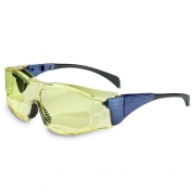 Uvex Ambient Safety Glasses - Blue Temples - Amber Anti-Fog Lens