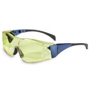 Uvex Ambient Safety Glasses - Blue Frame - Amber Lens