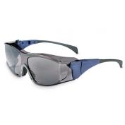Uvex Ambient Safety Glasses - Blue Frame - Gray Lens