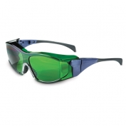 Uvex Ambient Safety Glasses - Blue Temples - Green Shade 3.0 Lens