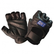 OK-1 Half Finger Leather Lifters Gloves with Padded Palm