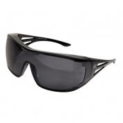 Edge XF116-L Ossa Safety Glasses - Black OTG Frame - Smoke Lens