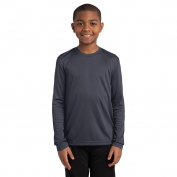 Sport-Tek YST350LS Youth Long Sleeve PosiCharge Competitor Tee - Iron Grey