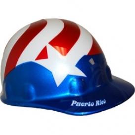 Fibre Metal Full Graphic Puerto Rico Flag Hard Hat