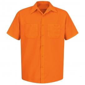Red Kap Ss24 Enhanced Visibility Work Shirt Short Sleeve