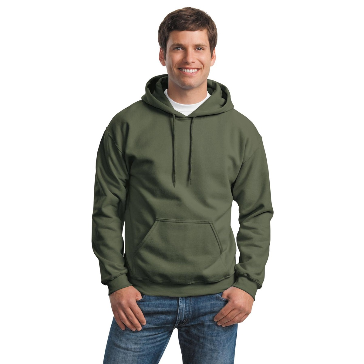 Gildan 18500 heavy blend hooded sweatshirt military for Gildan camouflage t shirts