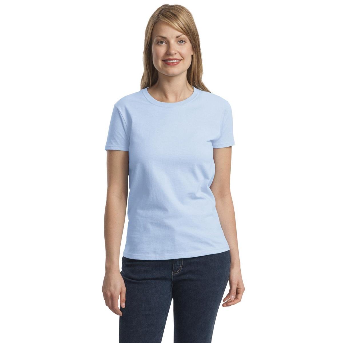 Gildan 2000l Women S Ultra Cotton T Shirt Light Blue