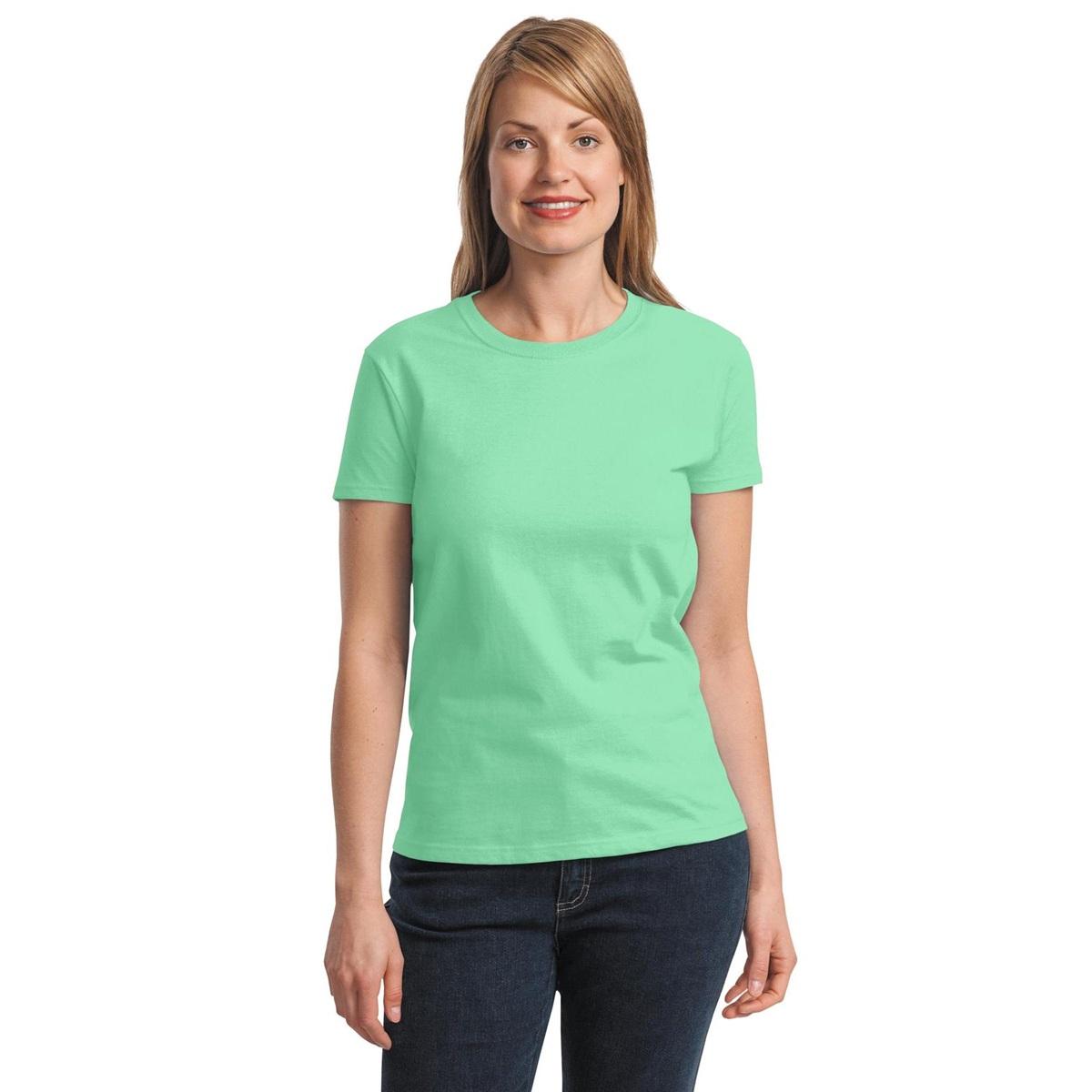 Gildan 2000l women 39 s ultra cotton t shirt mint green for Mint color t shirt
