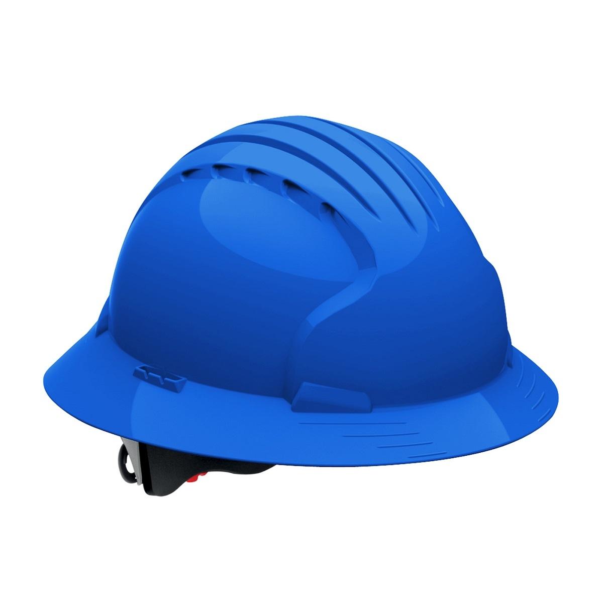 jsp evolution 6161 deluxe full brim hard hat wheel ratchet suspension blue. Black Bedroom Furniture Sets. Home Design Ideas