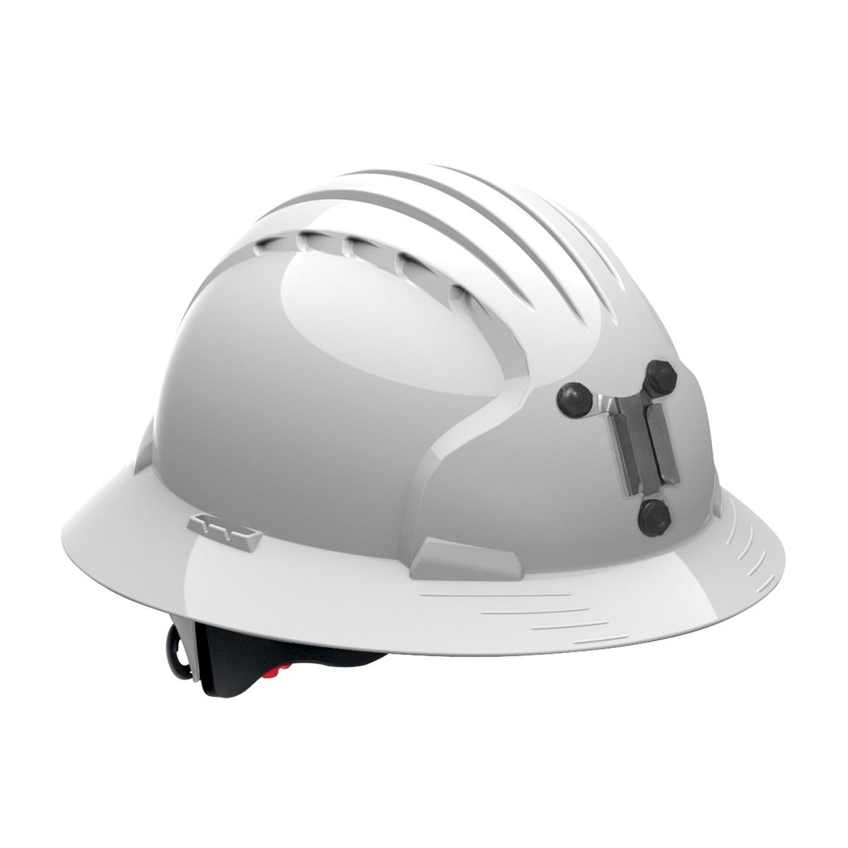jsp evolution 6161m deluxe full brim mining hard hat wheel ratchet suspension white. Black Bedroom Furniture Sets. Home Design Ideas
