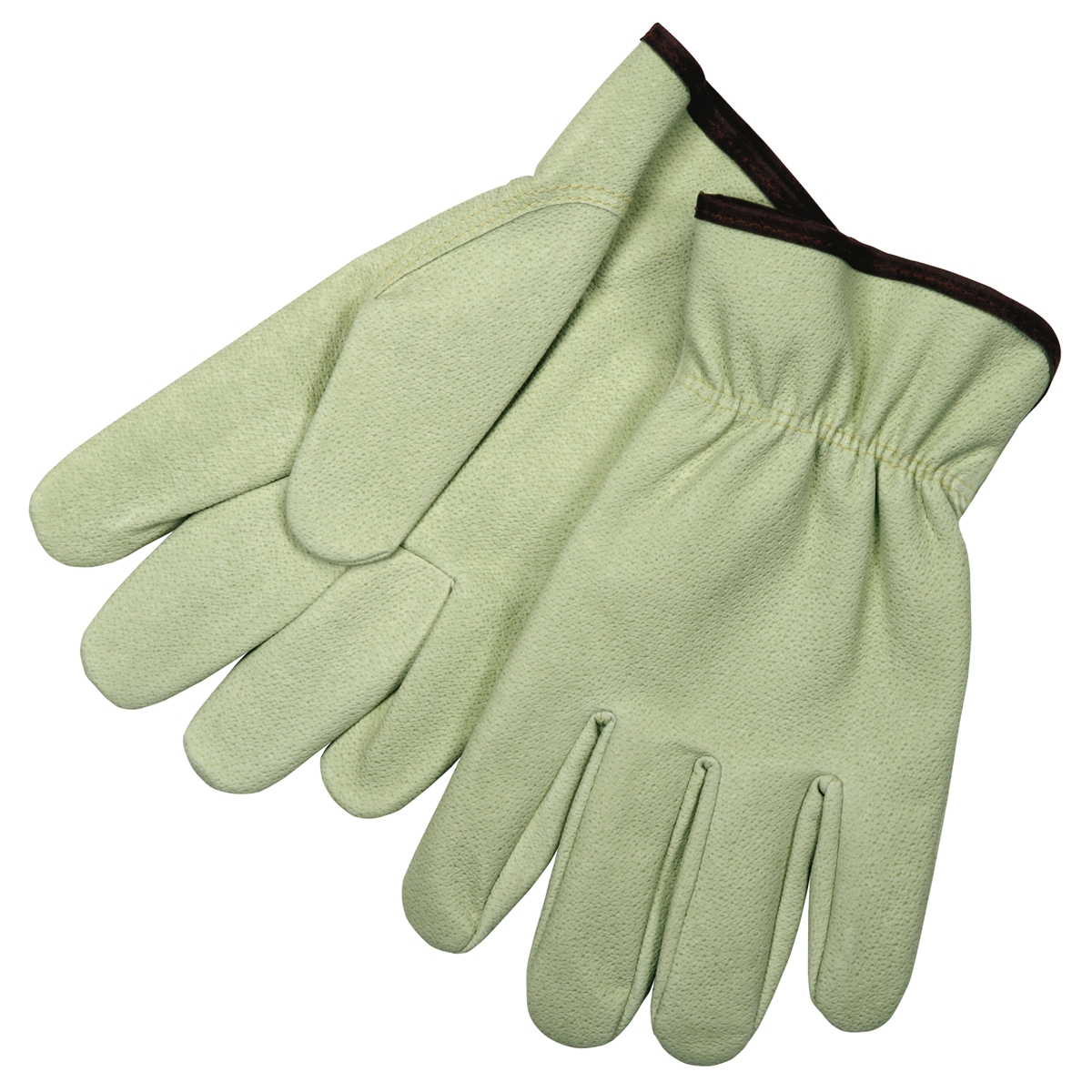Synthetic leather driving gloves - Memphis 3711 Grain Pig Texture Synthetic Leather Driver Gloves Keystone Thumb
