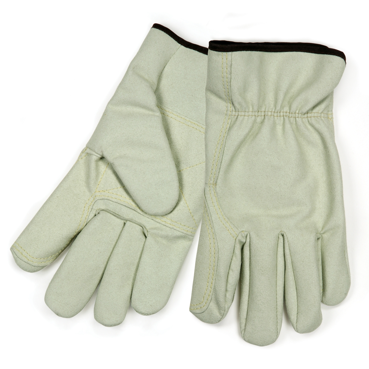 Synthetic leather driving gloves - Memphis 3750 Split Cow Texture Synthetic Leather Driver Gloves Double Palm