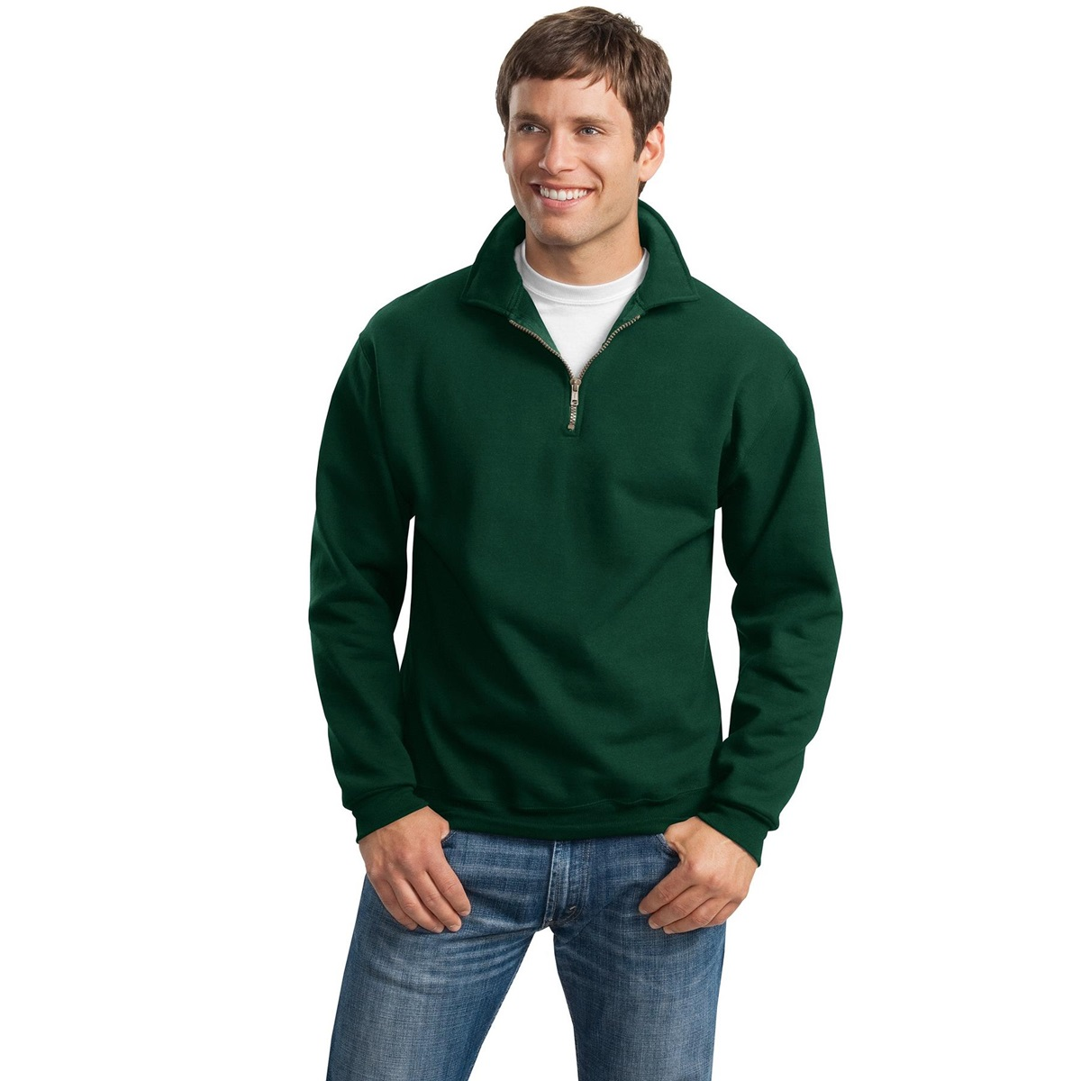 Jerzees 4528m Super Sweats 1 4 Zip Sweatshirt With Cadet