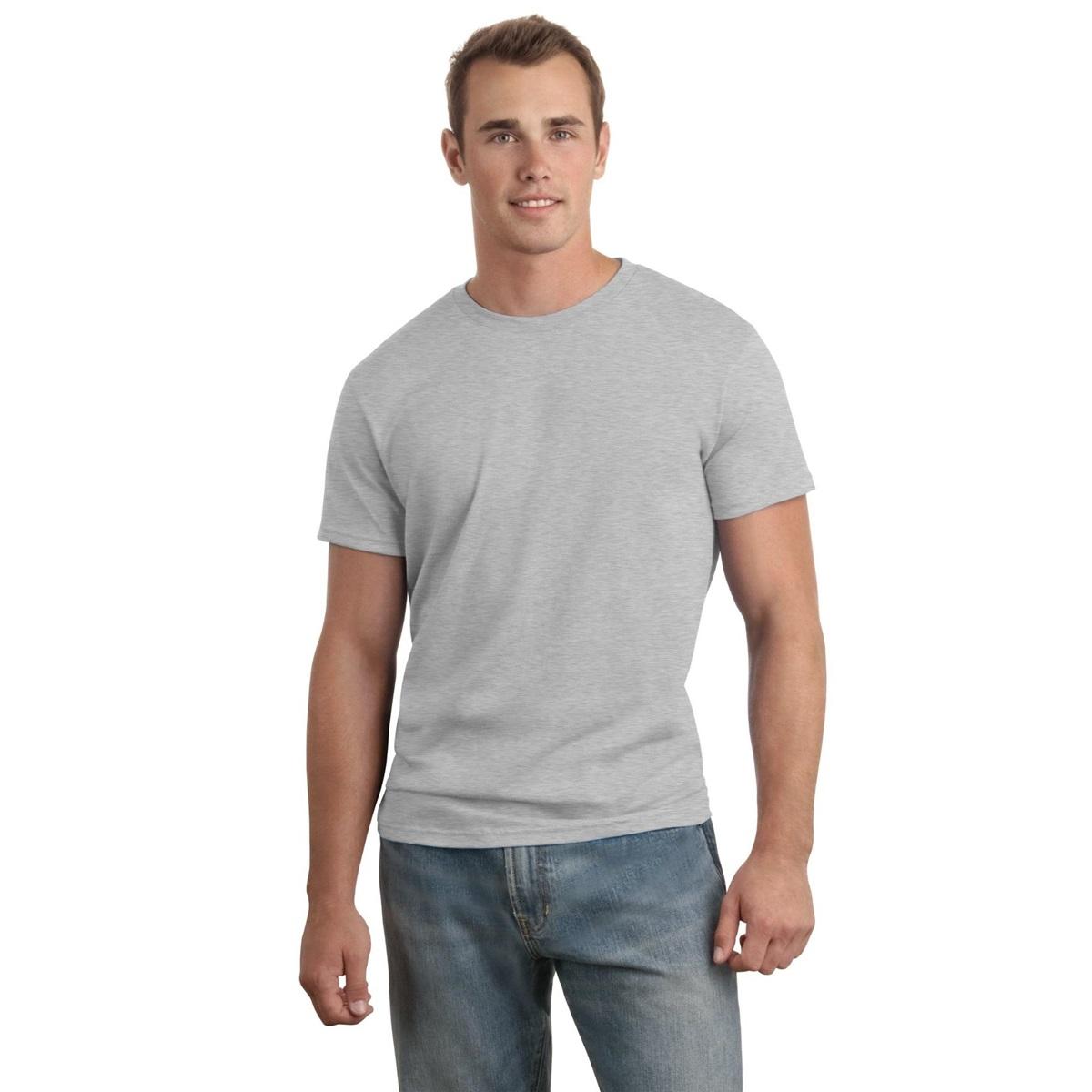 Hanes 4980 Nano T Cotton T Shirt Light Steel