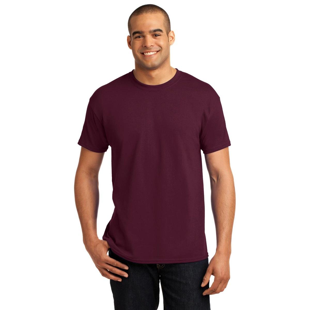 hanes 5170 comfortblend ecosmart cotton polyester t shirt maroon. Black Bedroom Furniture Sets. Home Design Ideas