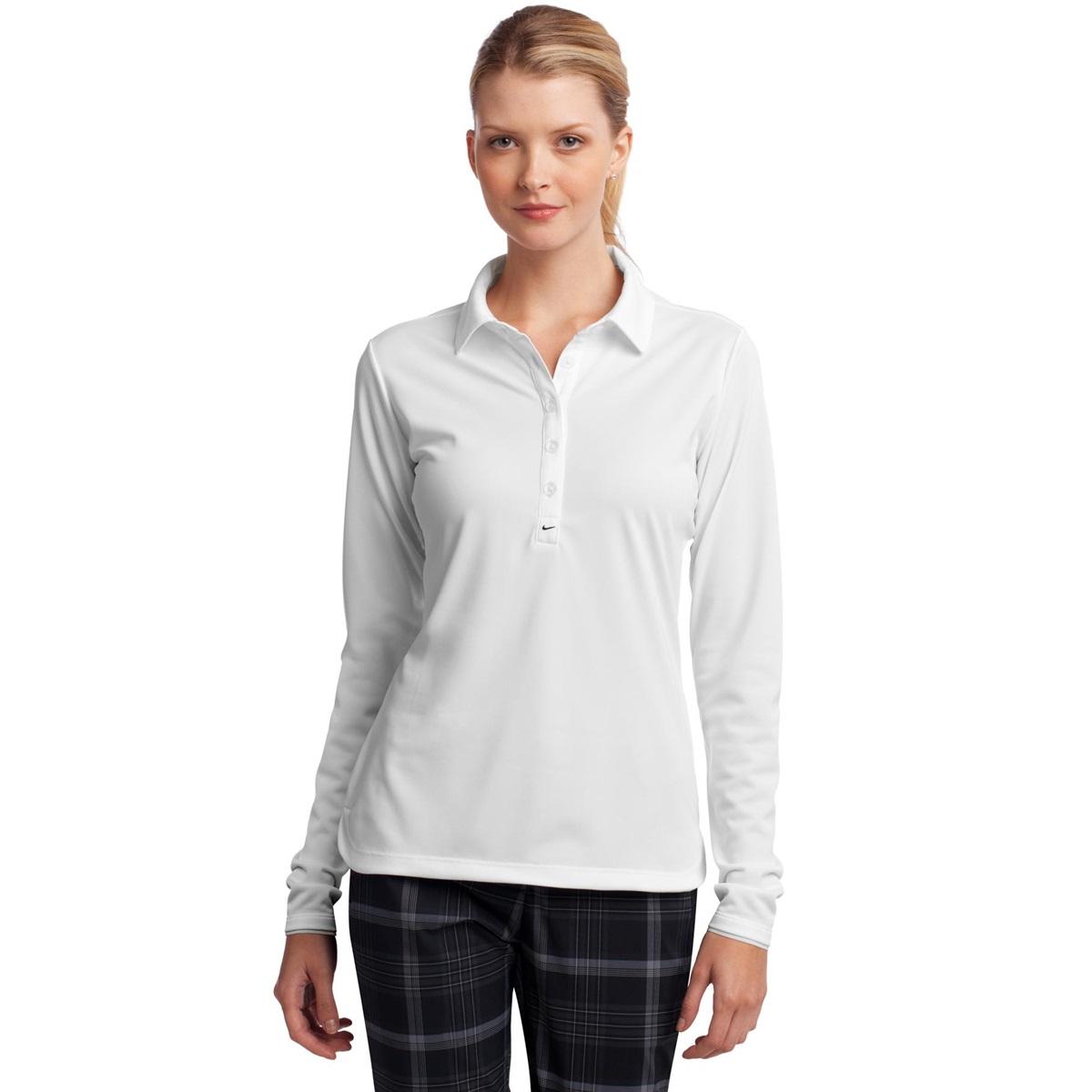 Nike golf 545322 ladies long sleeve dri fit stretch tech for Women s long sleeve polo shirts sale
