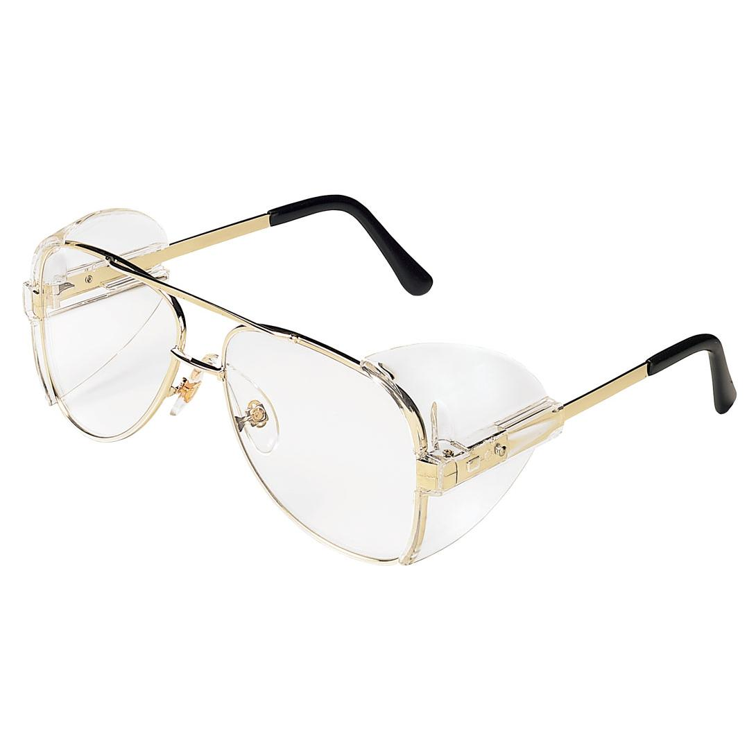 crews 61110 engineer safety glasses gold metal frame