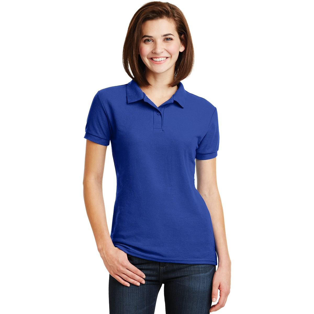 Gildan 72800l ladies dryblend double pique sport shirt for Gildan brand t shirt size chart