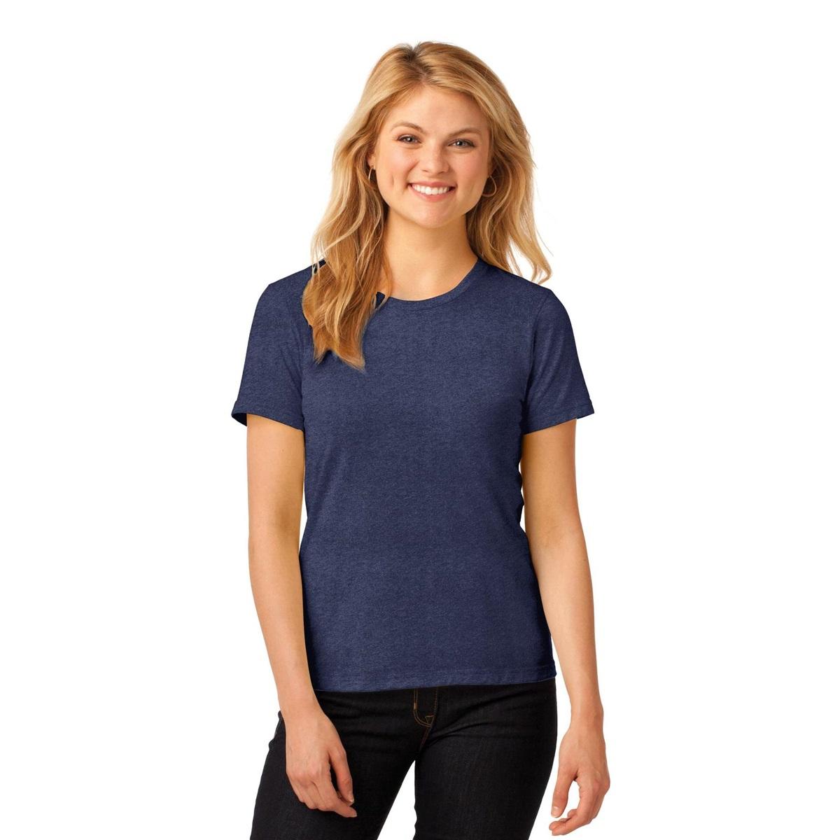 Anvil 880 Ladies Ring Spun Cotton T Shirt Heather Blue