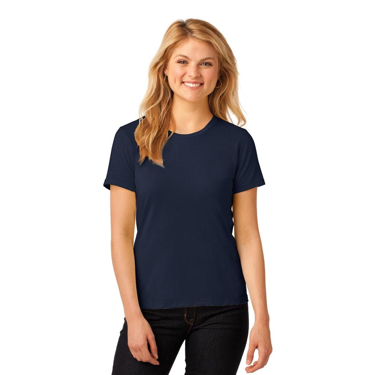 Anvil 880 ladies 100 ring spun cotton t shirt navy for 100 ringspun cotton t shirt wholesale