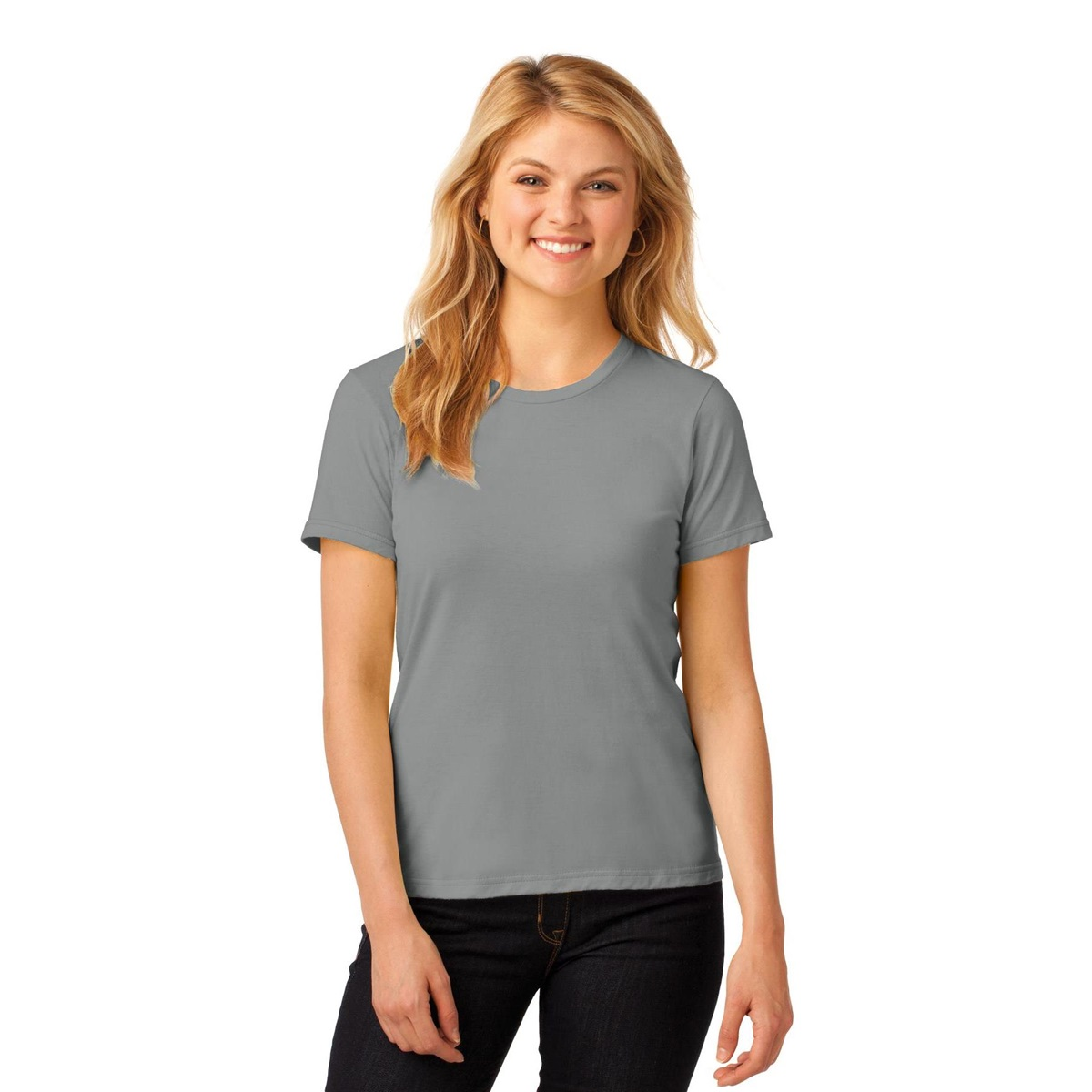 Anvil 880 ladies 100 ring spun cotton t shirt storm for 100 ringspun cotton t shirt wholesale