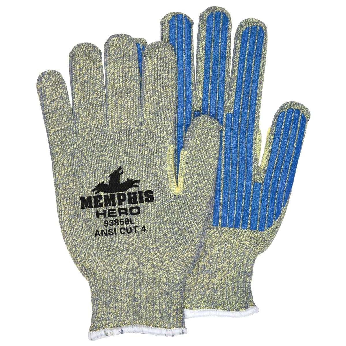 Memphis 93868 Hero Gloves 7 Gauge Kevlar Stainless Steel