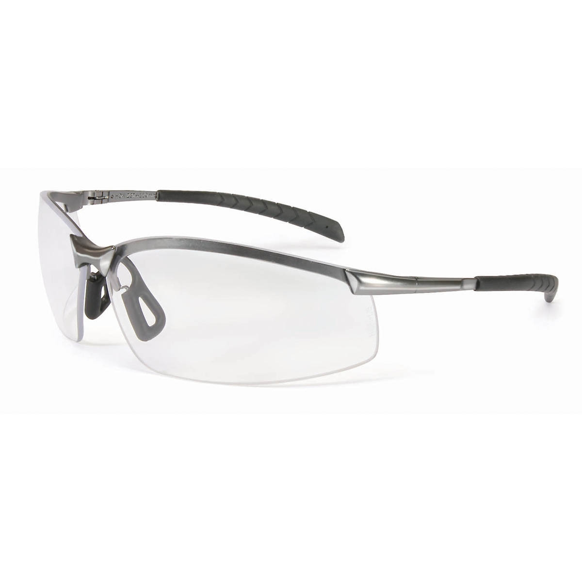 north safety gx 8 safety glasses metal frame clear lens