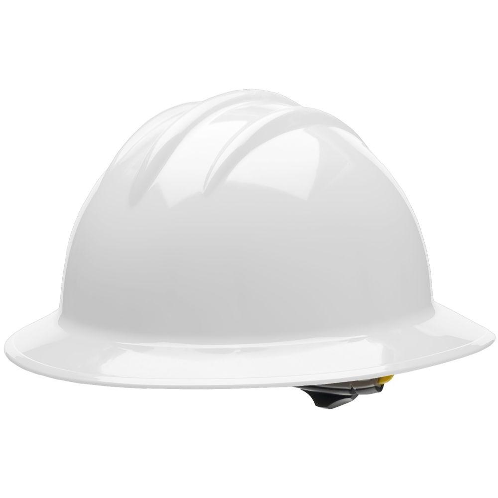 bullard c33whr classic full brim hard hat ratchet suspension white. Black Bedroom Furniture Sets. Home Design Ideas