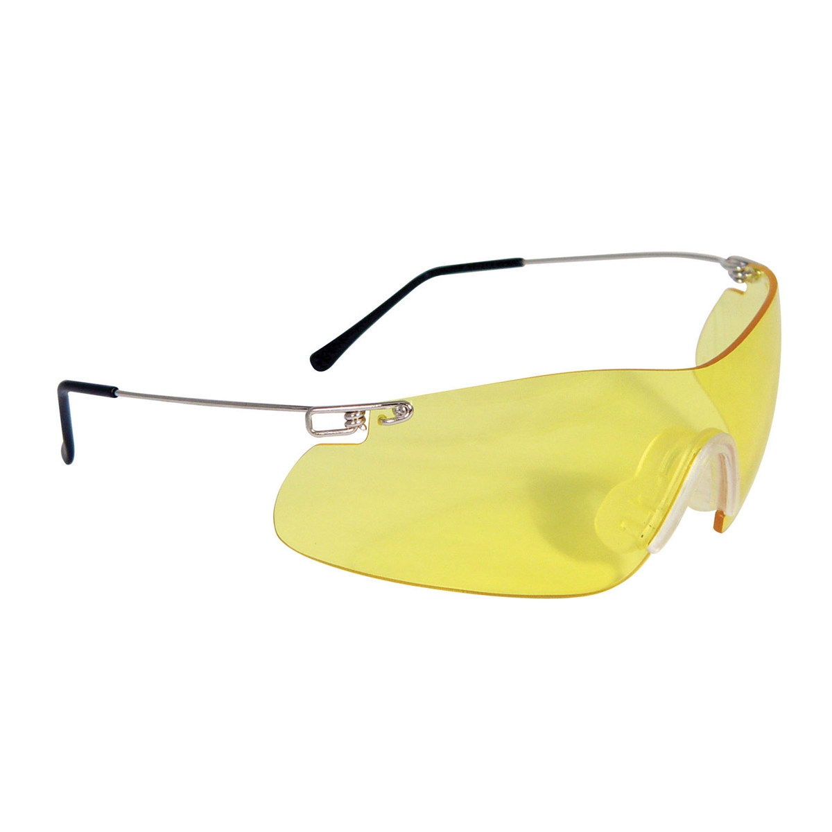 Frameless Shooting Glasses : Radians Clay Pro Shooting Glasses - Silver Temples - Amber ...