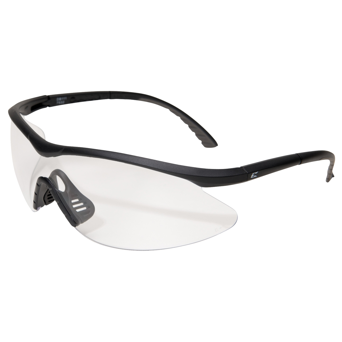 Black Frame Glasses Clear Lens : Edge DB111 Banraj Safety Glasses - Black Frame - Clear ...