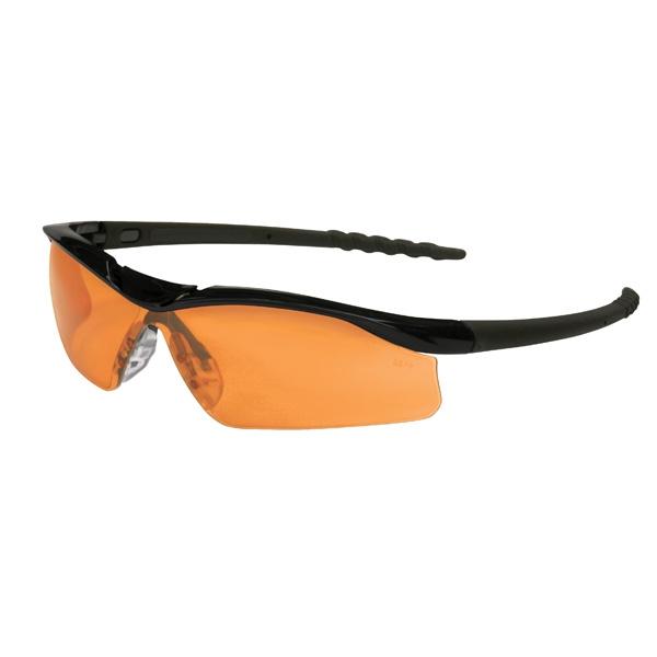 Glasses Frames Dallas : Crews Dallas Safety Glasses - Black Frame - Orange Lens ...